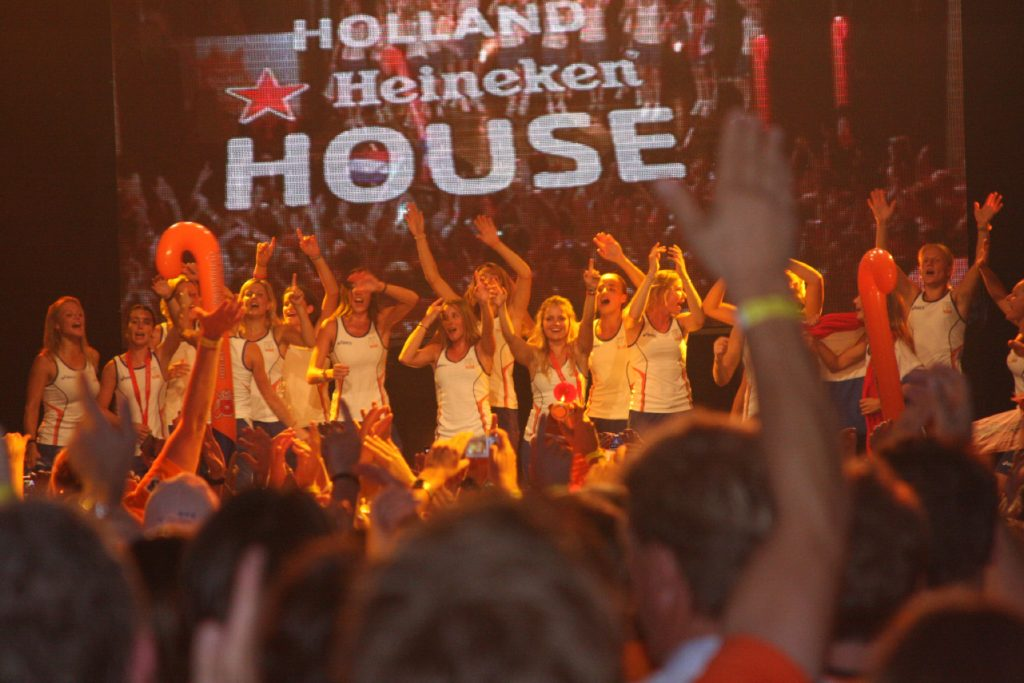 Hockey dames huldiging HHH