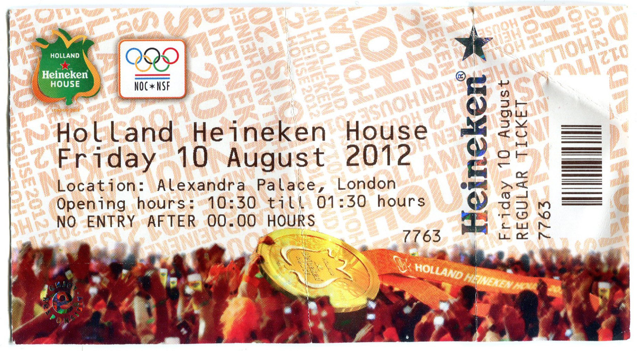 Tickets Holland Heineken House