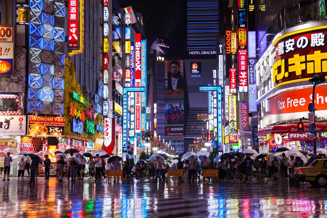 Tokyo Akihabara neon reclame