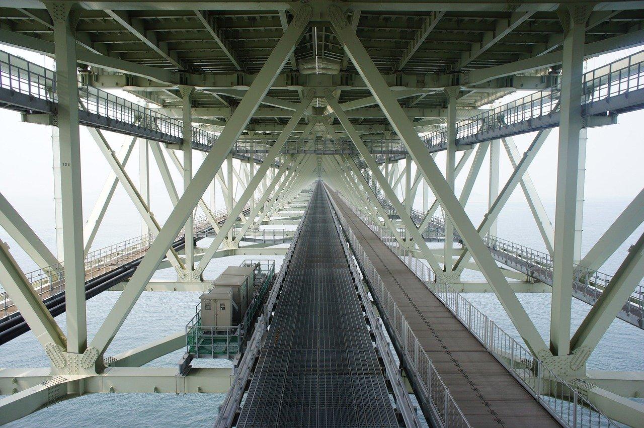 Akashi Kaikyo brug staalwerk
