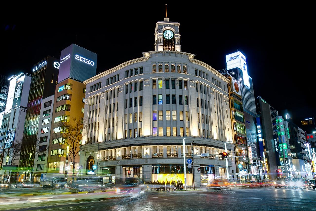 Hattori Klokkentoren in Ginza, Tokyo