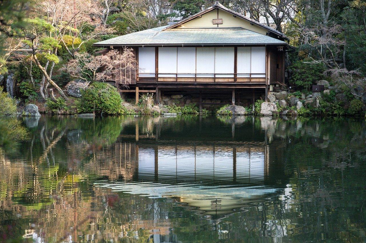 Sorakuen Japanse tuin in Kobe