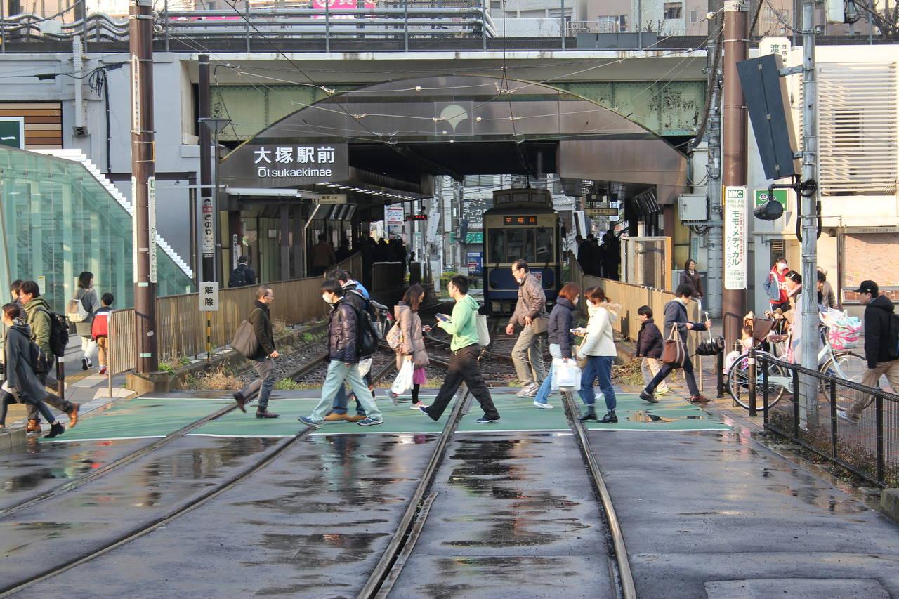 Sakura Tram in Tokyo