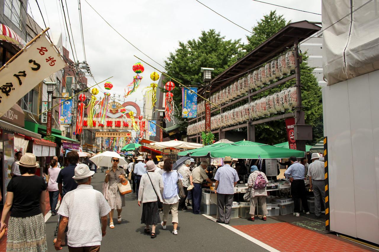 Drukte in Sugamo, Tokyo