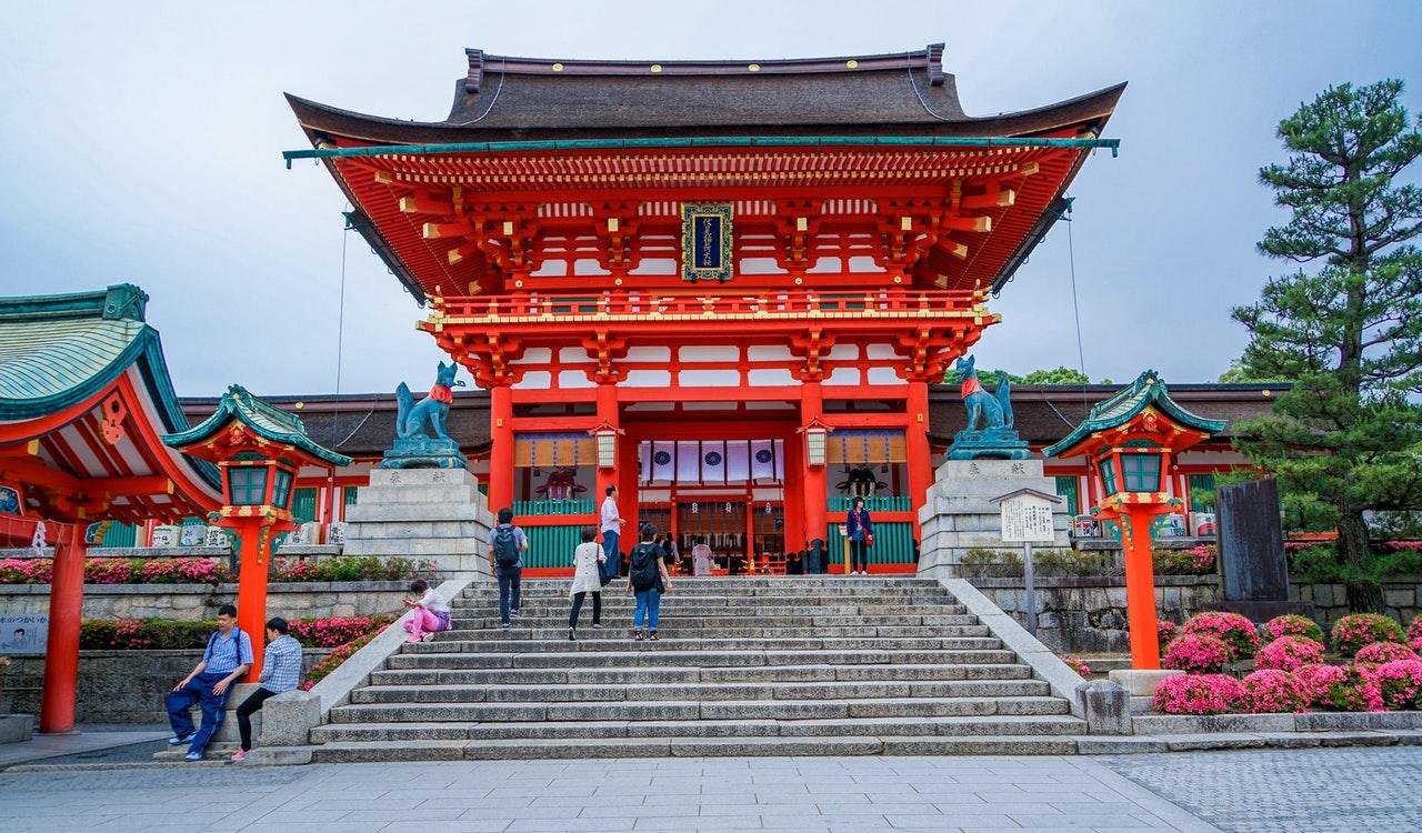 De Fushimi Inari Taisha tempel in Kyoto