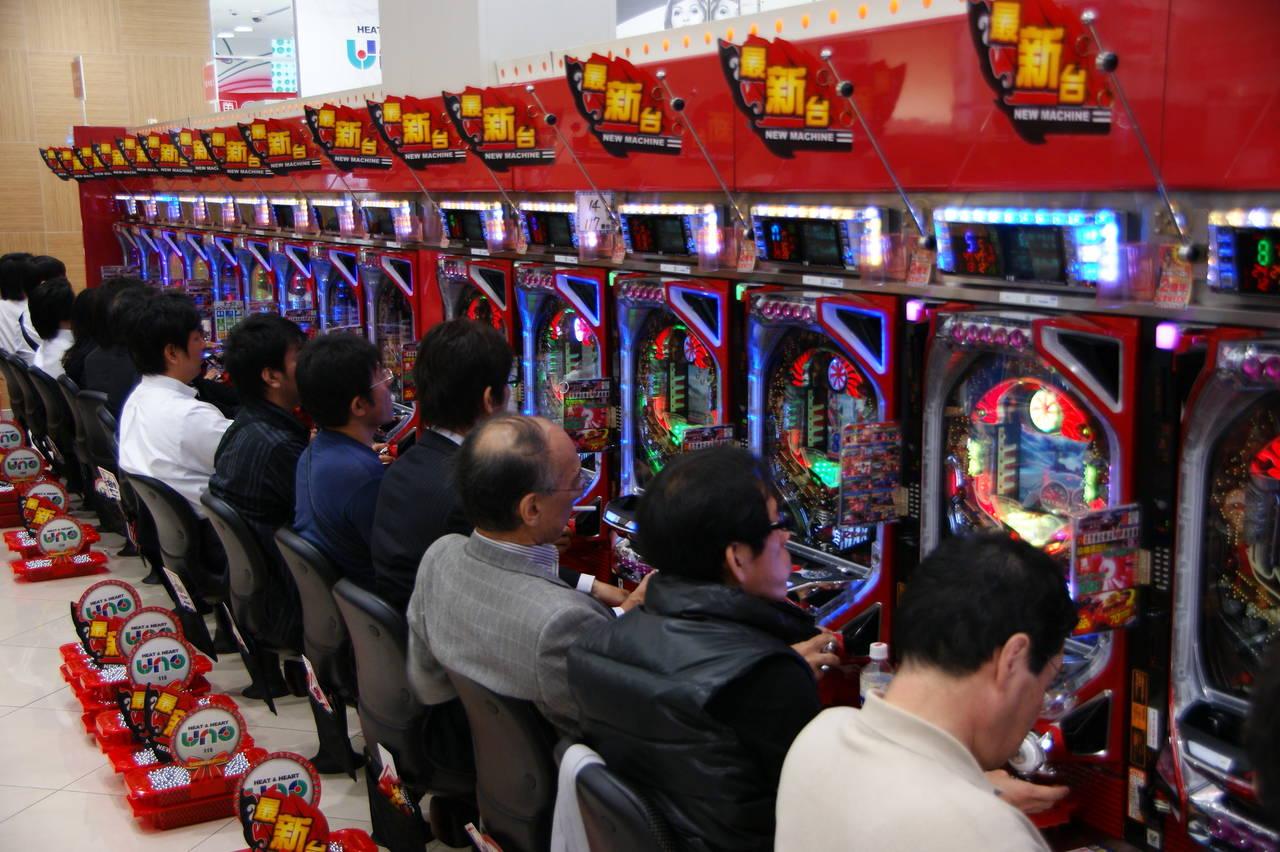 het Japanse gokspel pachinko