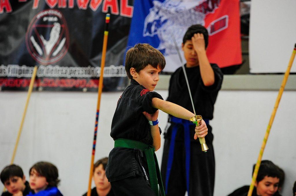 Japanse vechtsport met katana