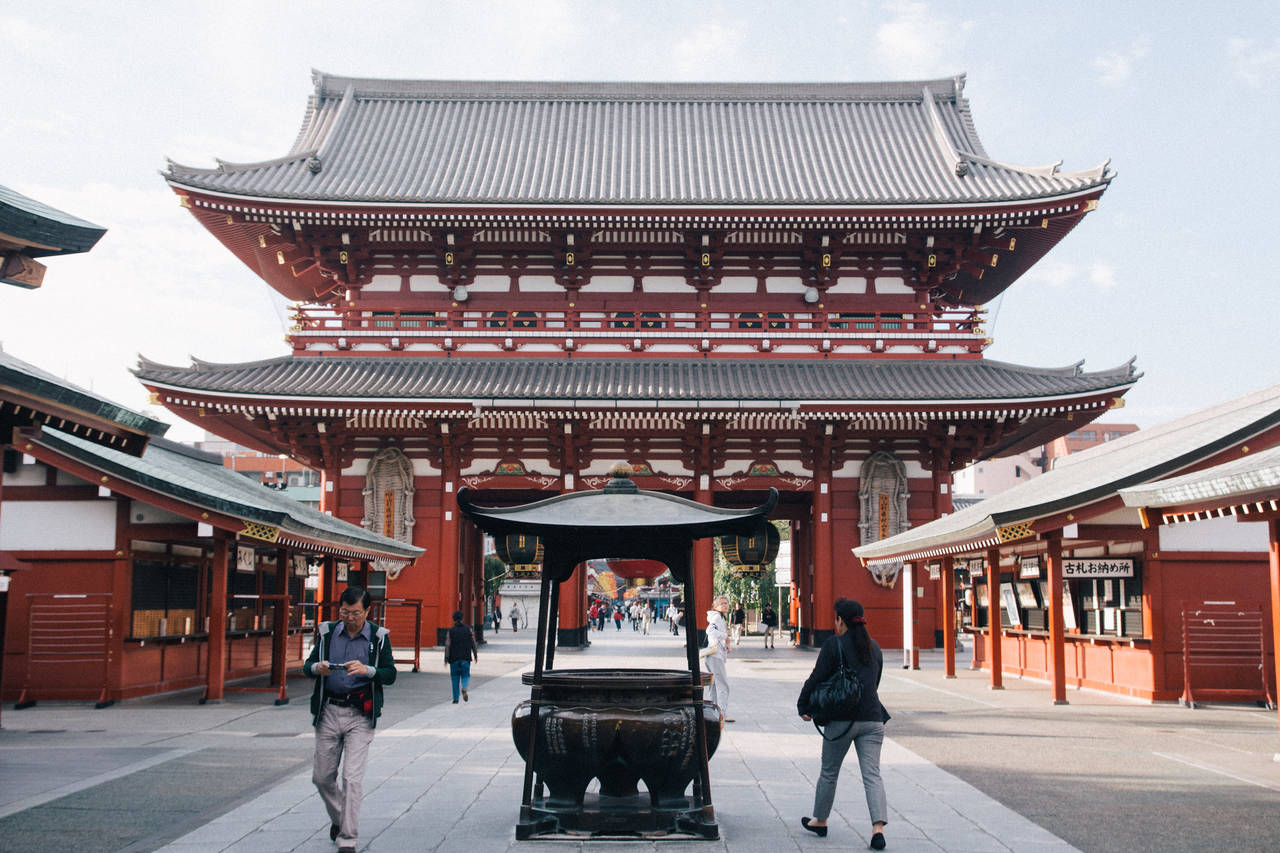 De Sensoji tempel in het Asakusa district