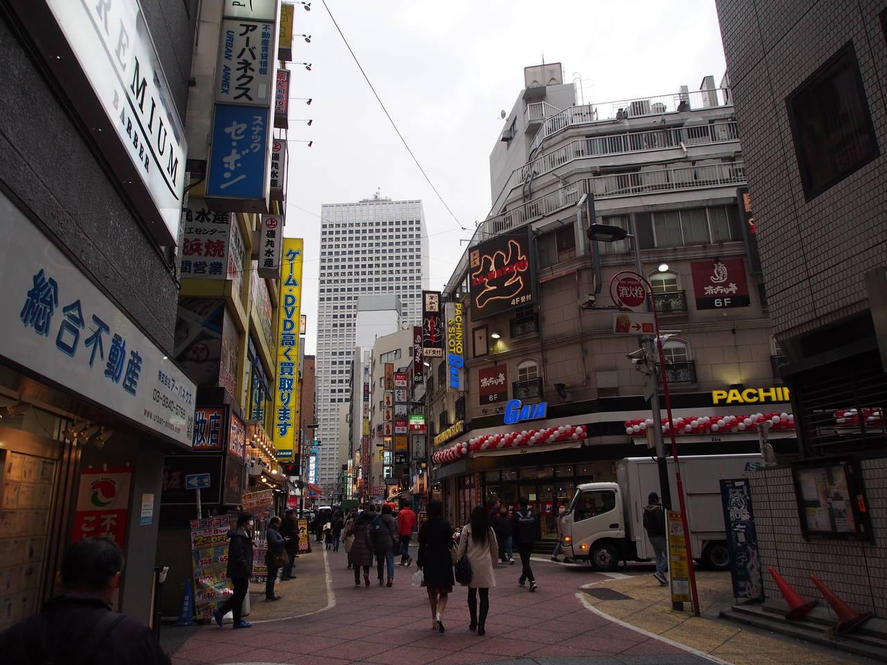 Winkelstraat in Nishi-Shinjuku