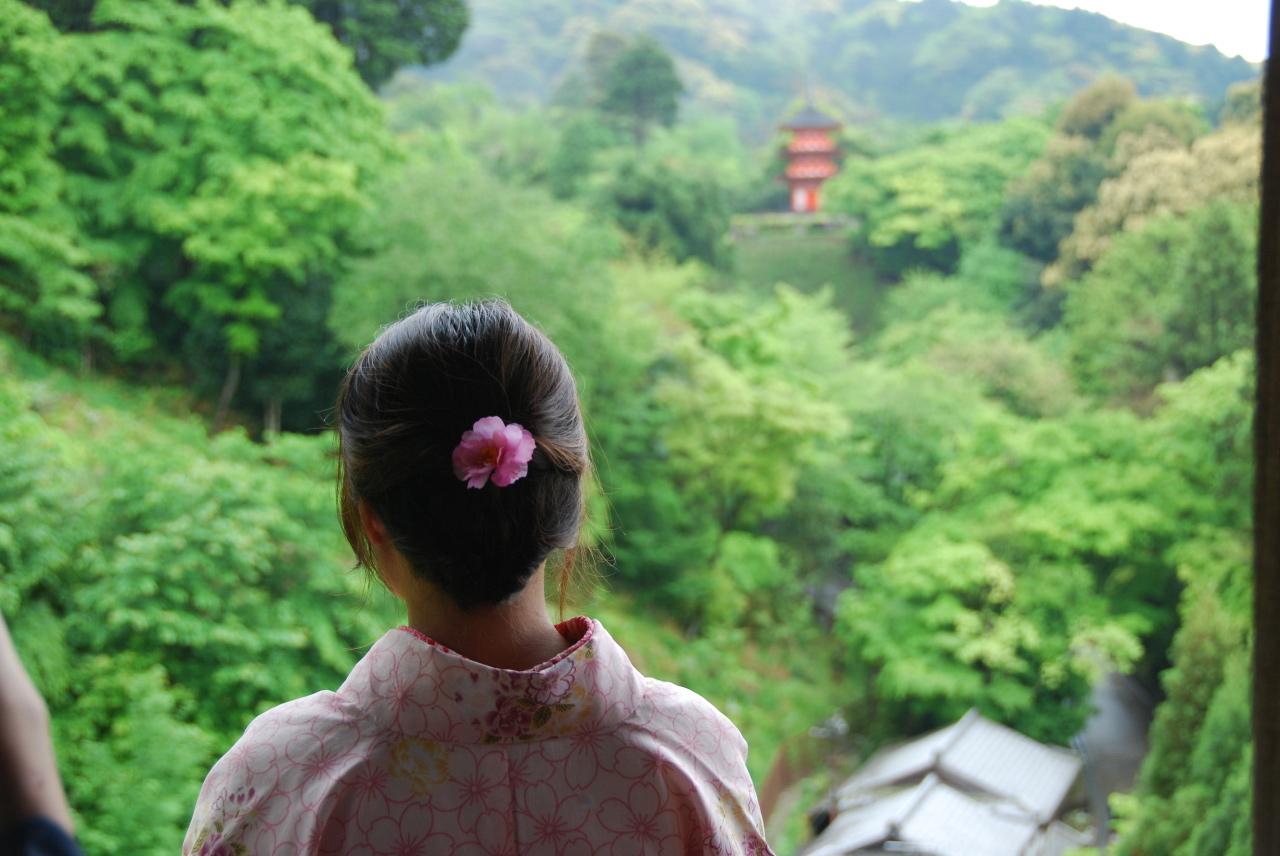 Uitzicht Kyoto vanaf Kiyomizu-dera