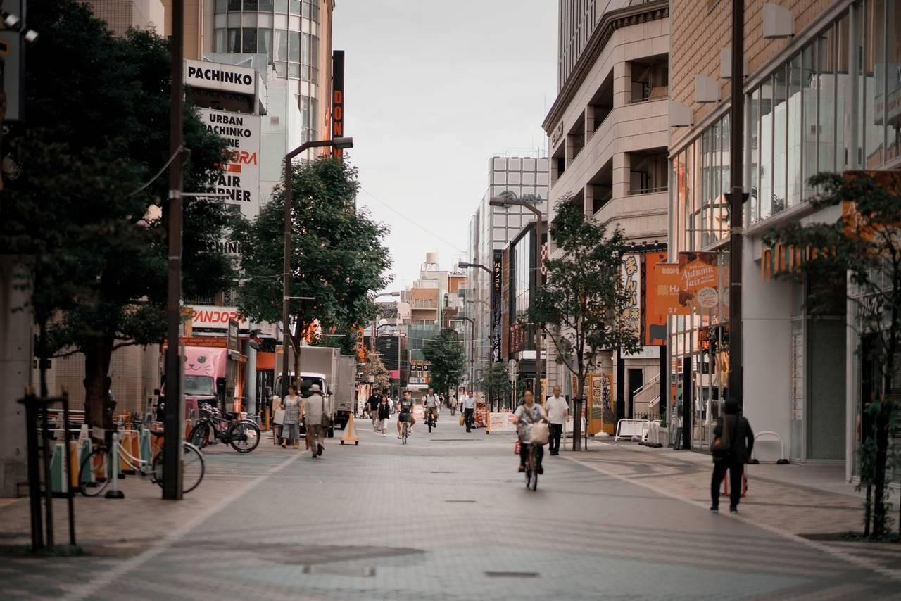 De wijk Taito in Tokyo