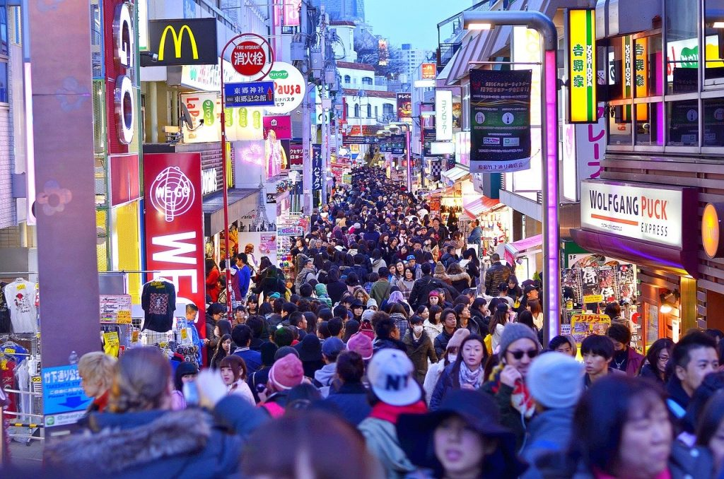 Takeshita Dori winkelstraat in Harajuku