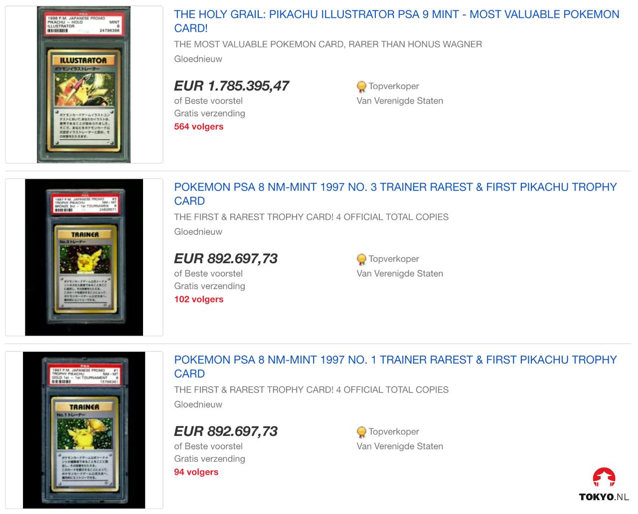 Duurste Pokémon kaarten ter wereld