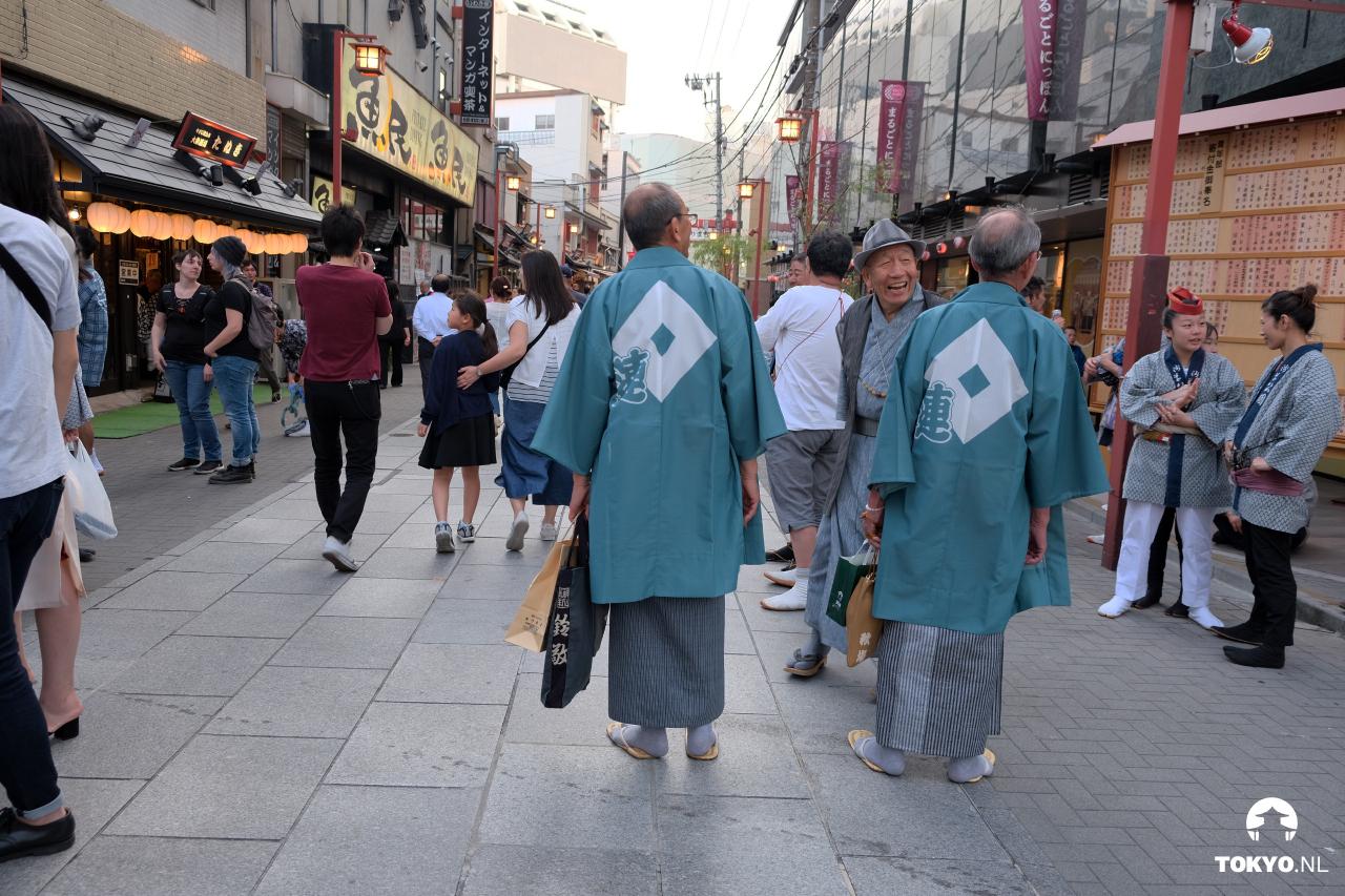 Japanse ouderen in traditionele kledij