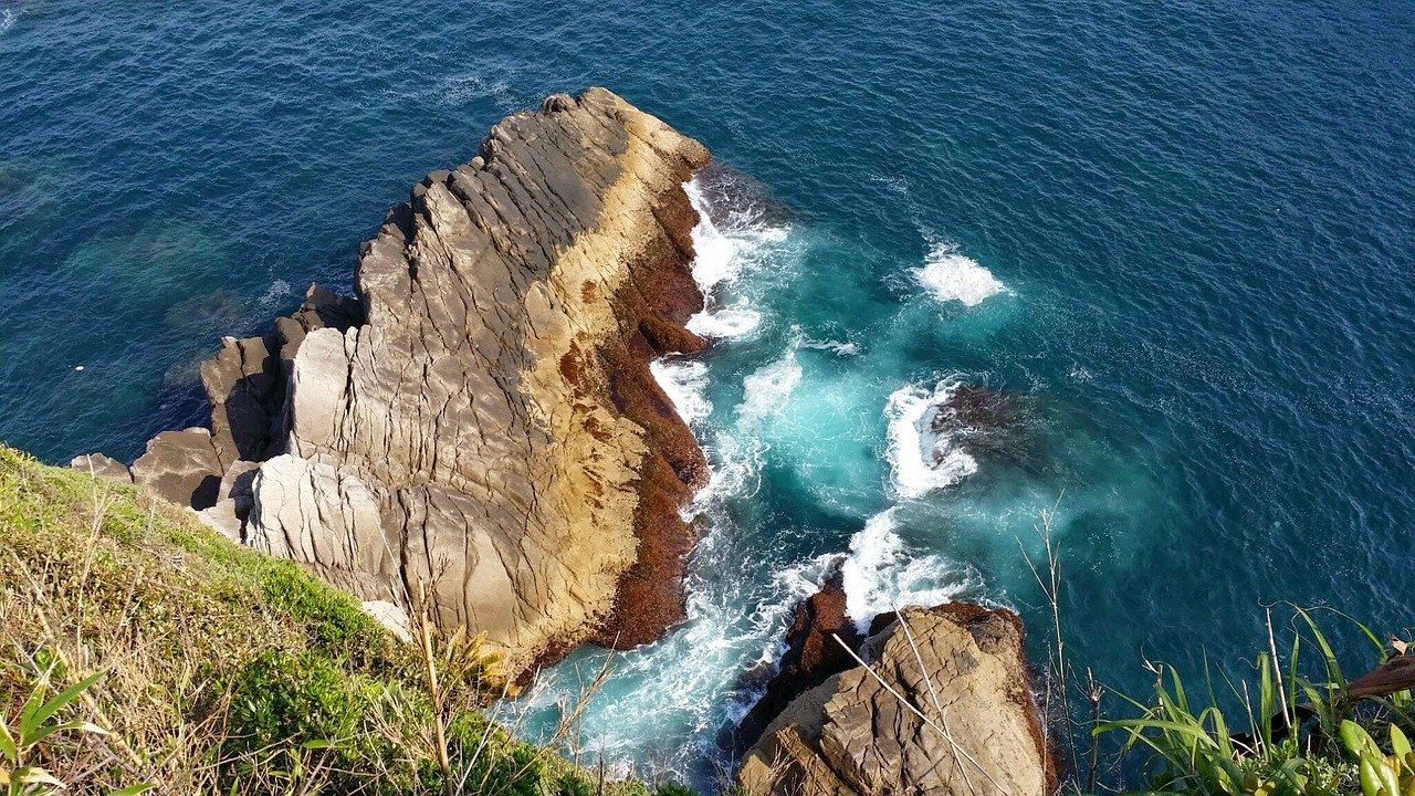 Natuurlijke kliffen van Shikoku