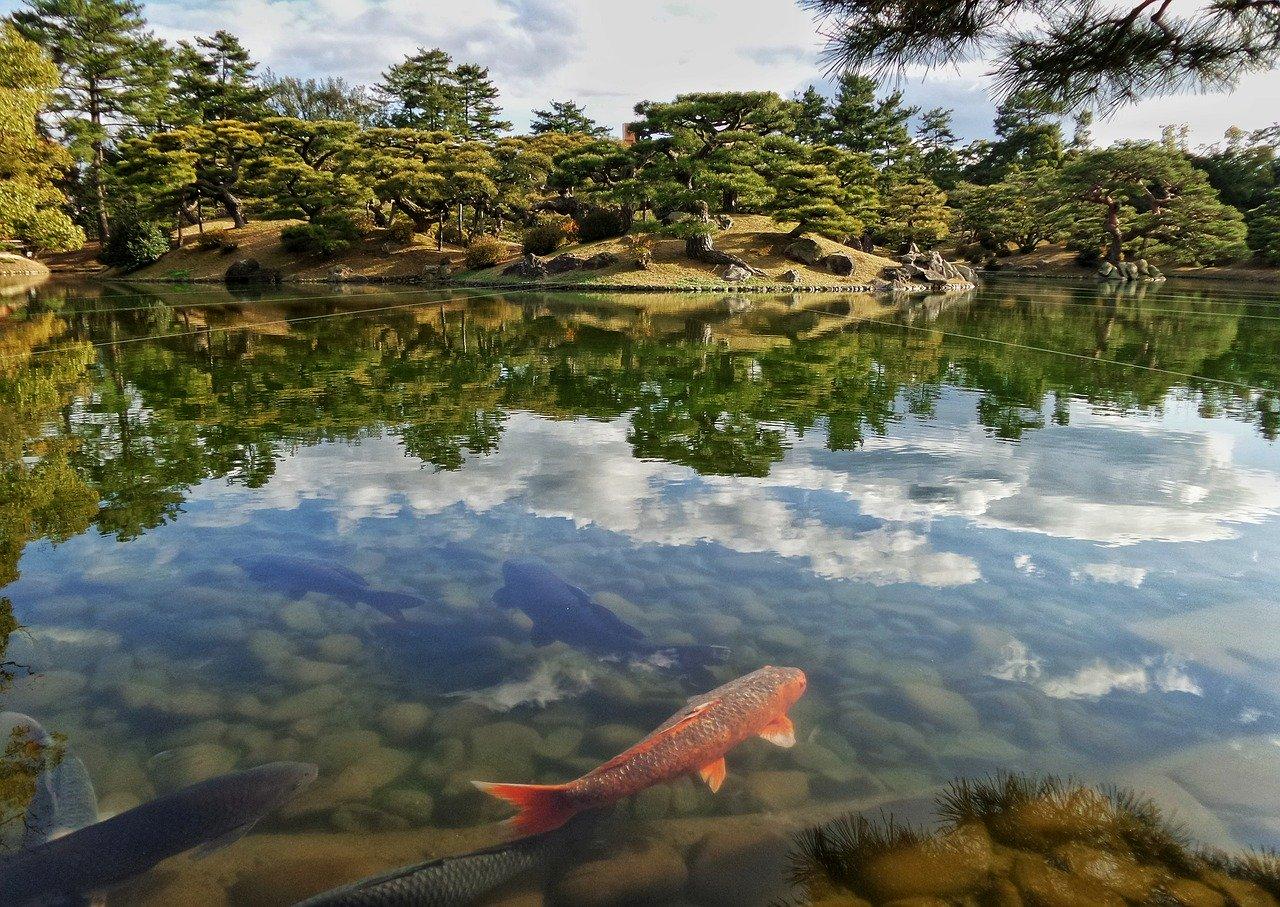 Ritsurin Koen Japanse tuin