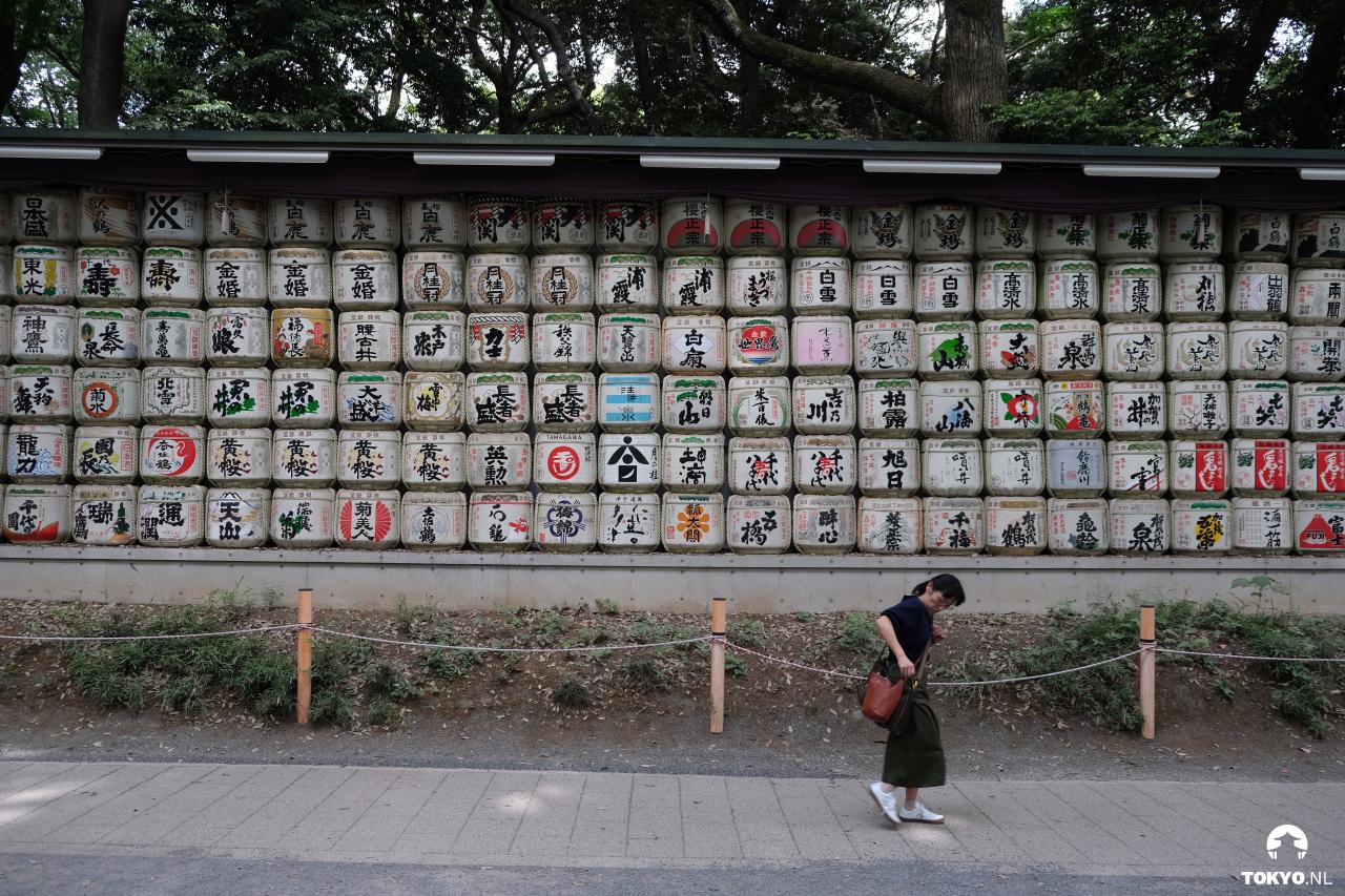 Sake tonnen nabij Meiji shrine