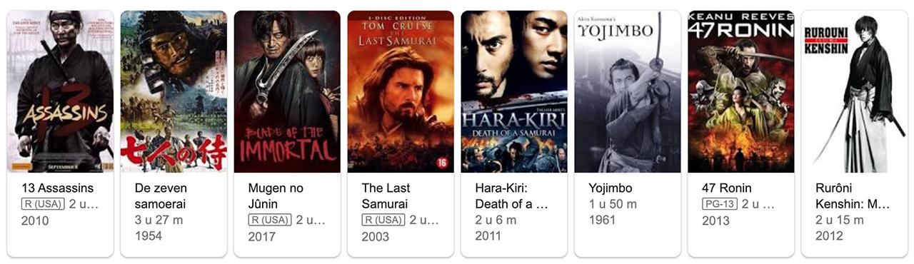 Samoerai films