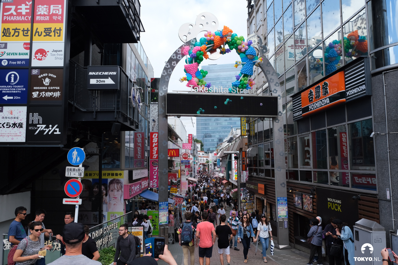 Takeshita dori winkelstraat (Harajuku)