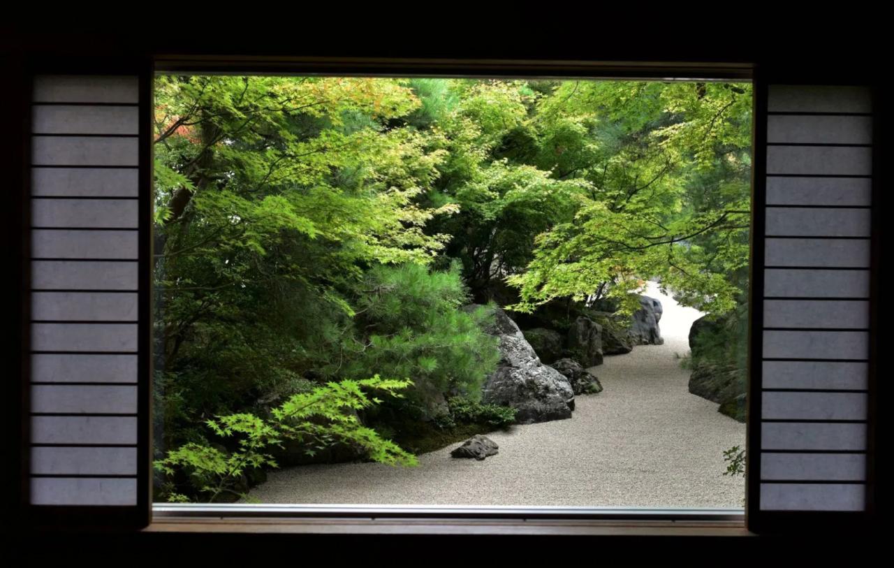 Adachi Museum of Art tuin uitzicht