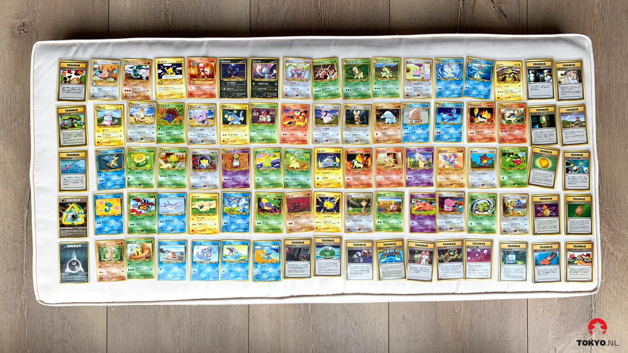 Japanse Neo Genesis Pokémon kaarten non Holo's