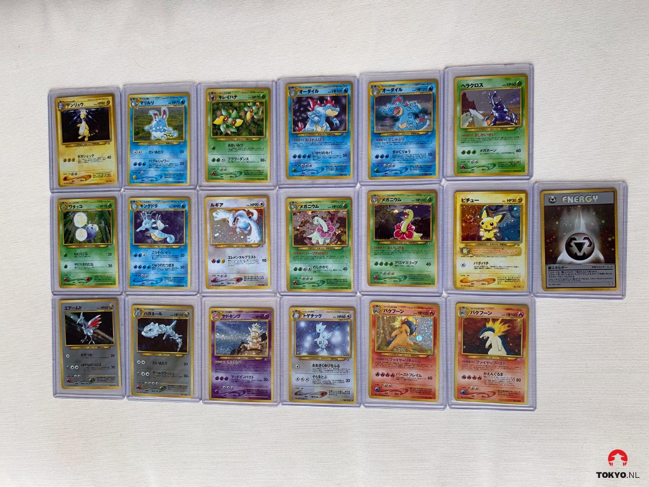 Japanse Neo Genesis Pokémon kaarten Holo's