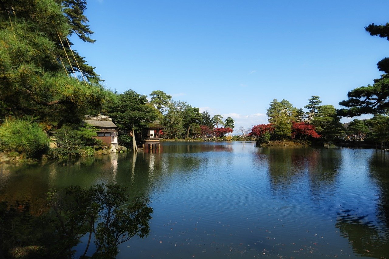 Kenroku-en Japanse tuin