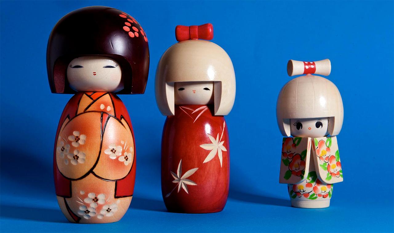 Kokeshi poppen uit Japan