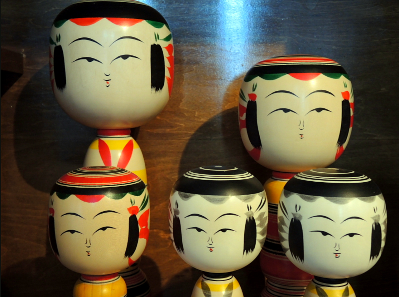 Traditionele Kokeshi poppen