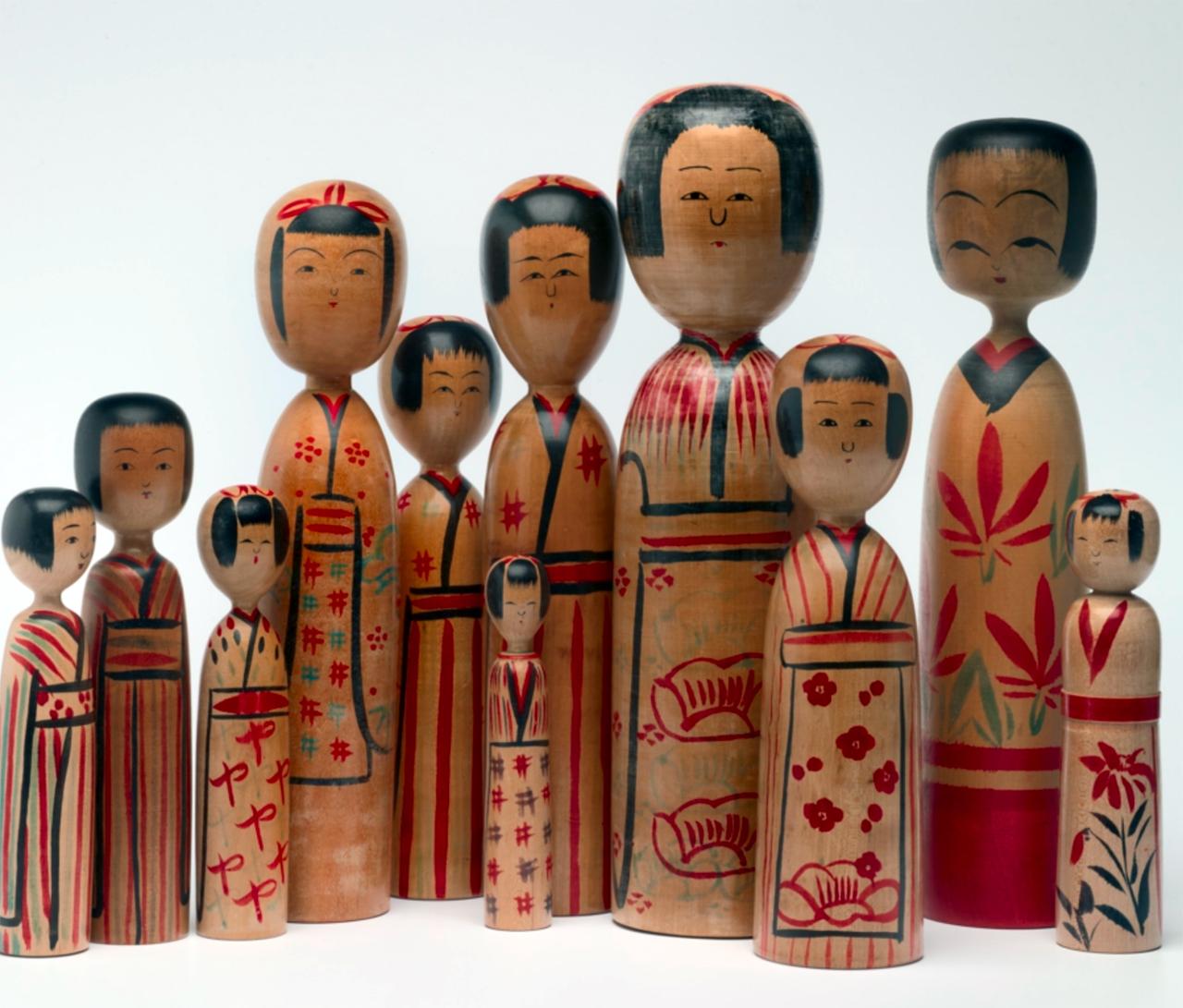 Vintage Kokeshi poppen