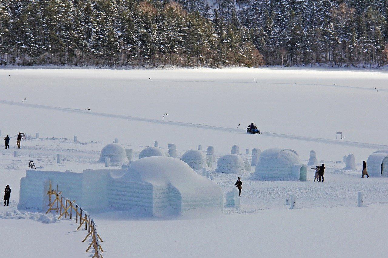 Bevroren meer Hokkaido