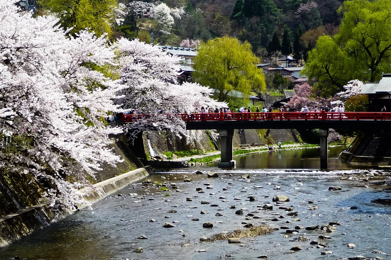 Miyagawa rivier in Takayama