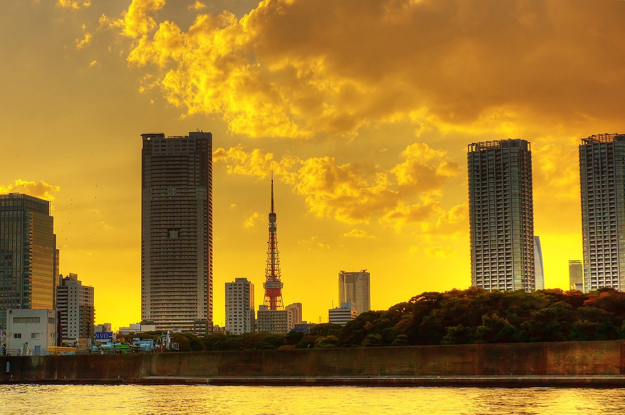 Tokyo Tower vanaf de baai