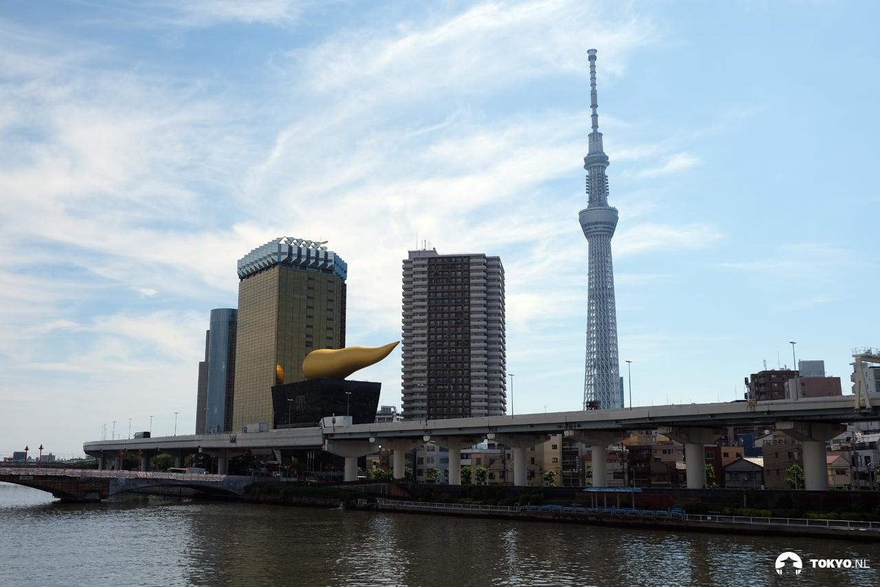 Tokyo Skytree vanaf de Sumida rivier