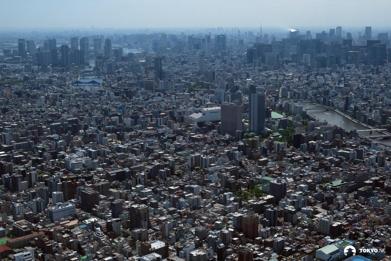 Tokyo gezien vanaf de Skytree op 450 meter