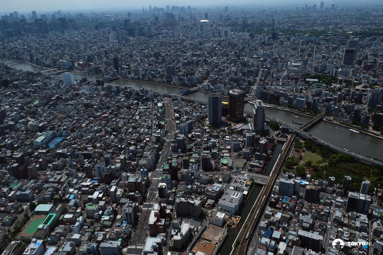 Uitzicht vanaf de Tokyo Skytree