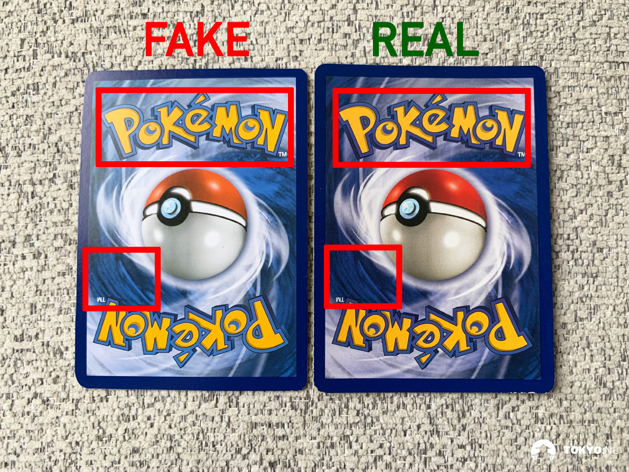 Kleurcodes neppe Pokémon kaarten