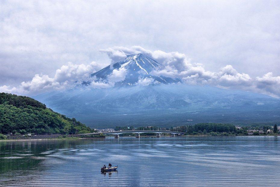 Mount Fuji Ashino meer