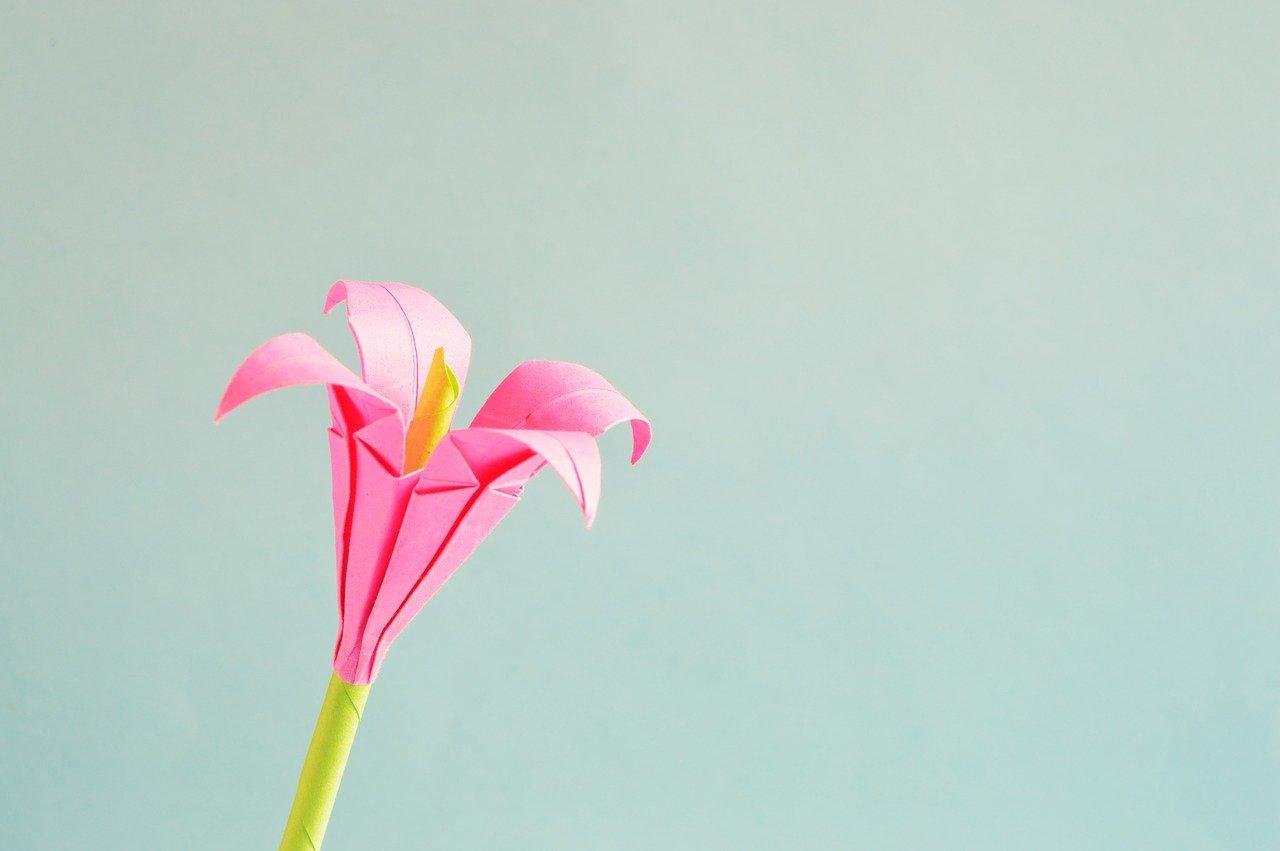 Origami bloem