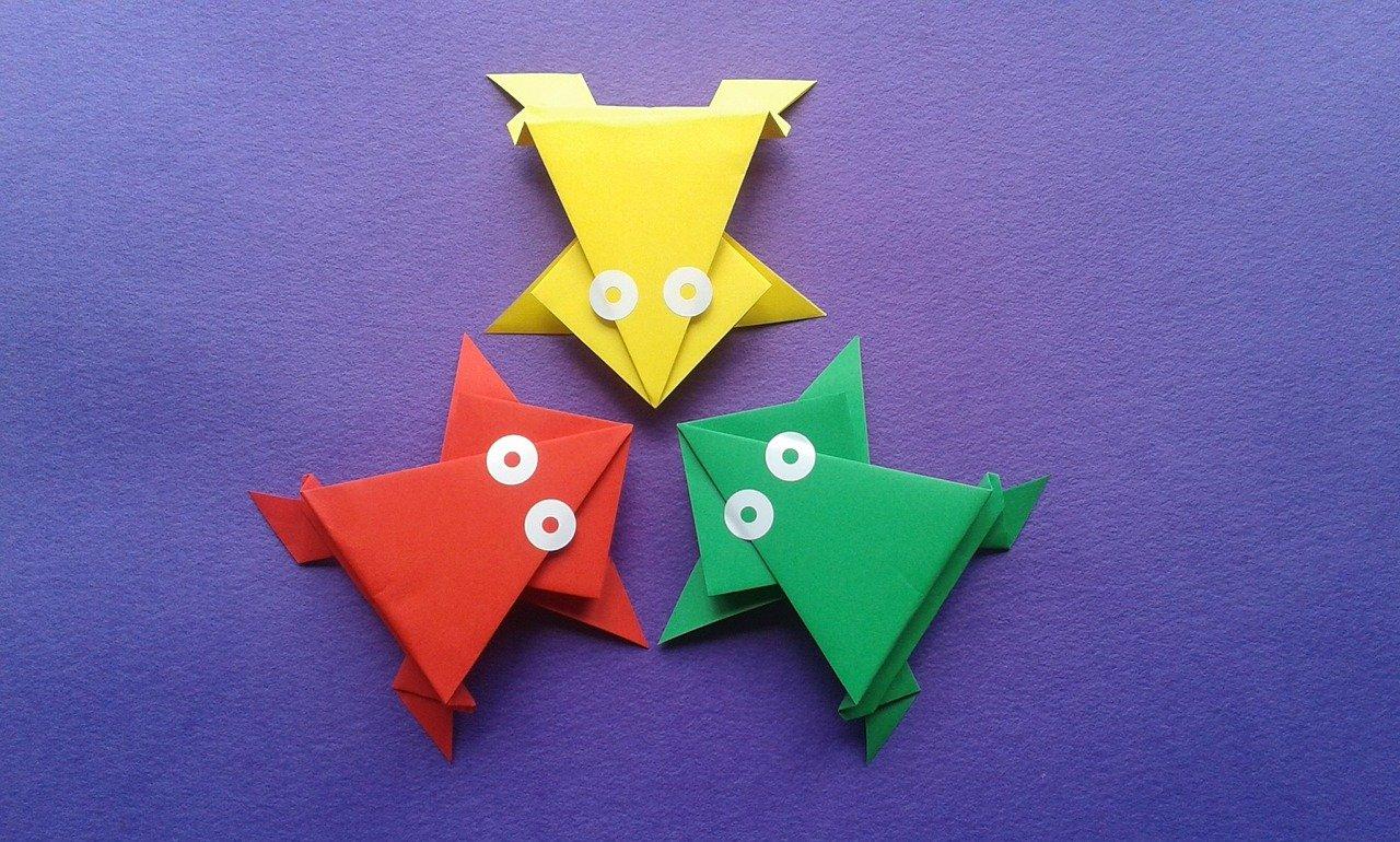 Origami kikkers