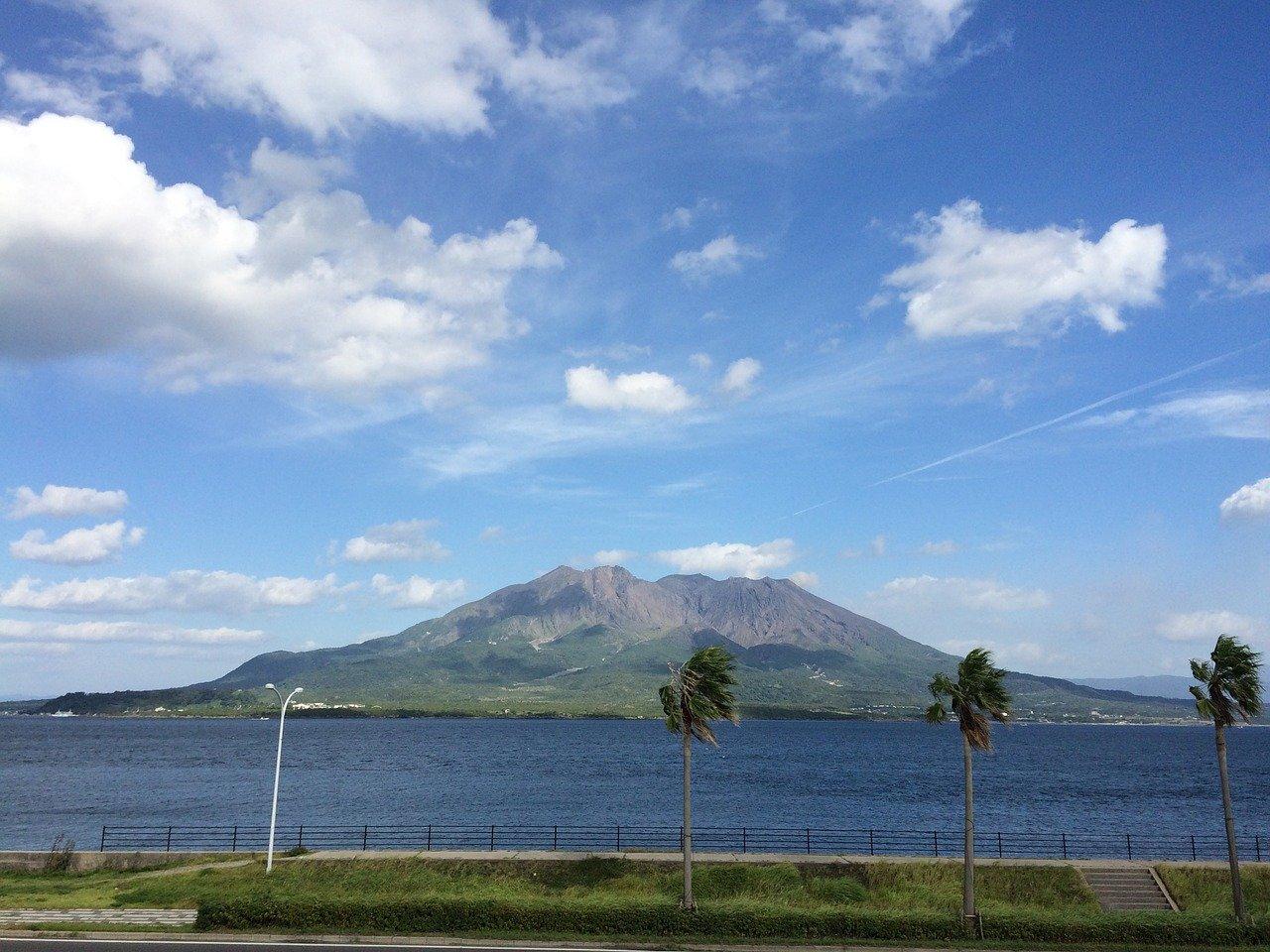 Sakura Jima vulkaan nabij Kagoshima
