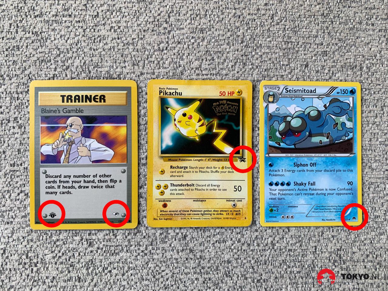 Nieuwe Pokémon kaarten sets herkennen