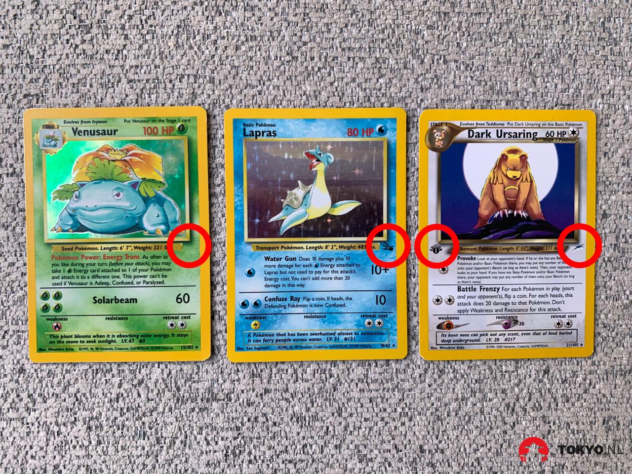 Pokémon kaart series herkennen