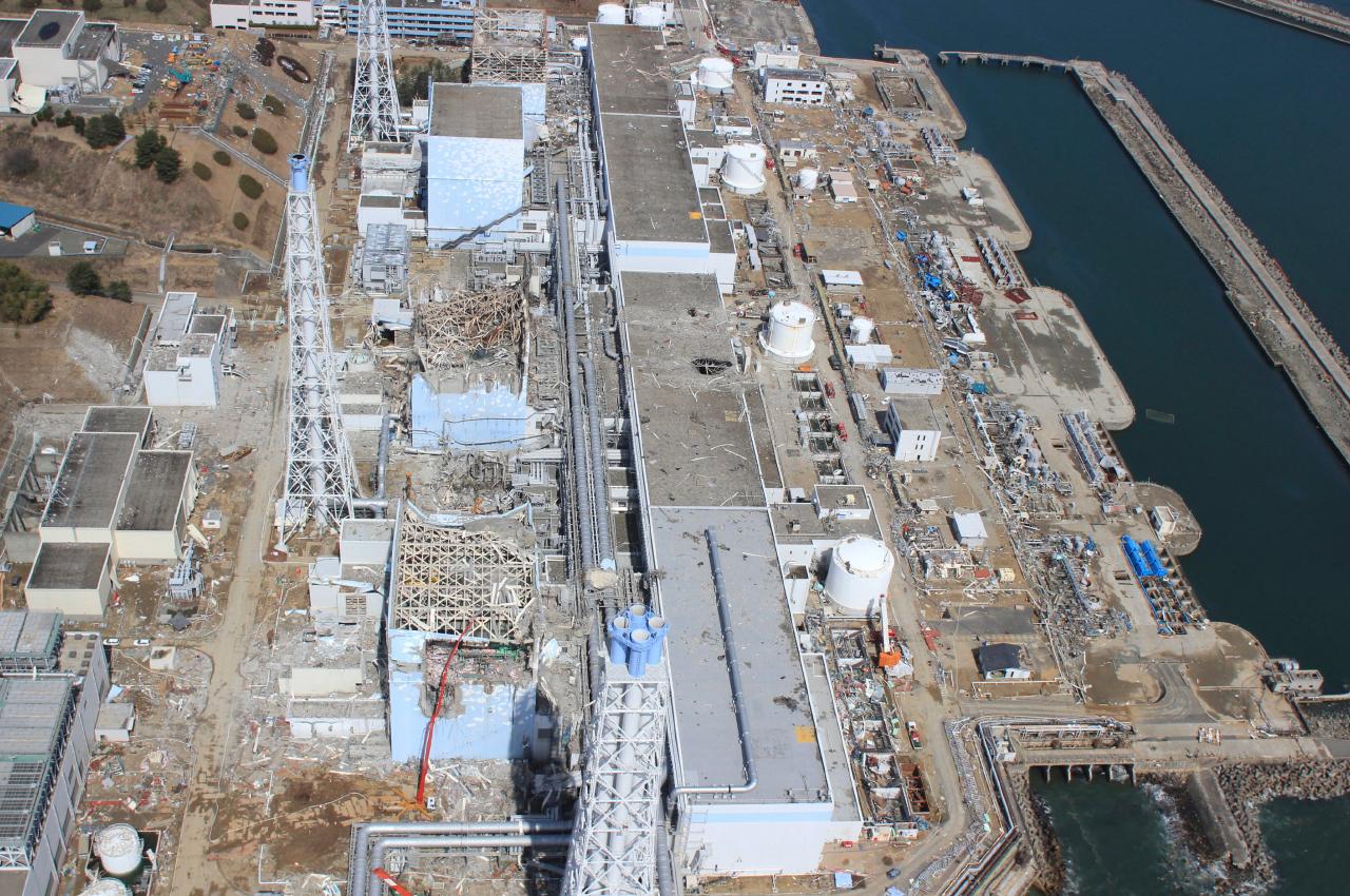 Daiichi kerncentrale na de tsunami