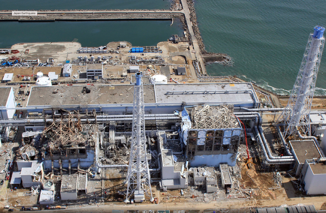 Daiichi kerncentral na de kernramp in 2011