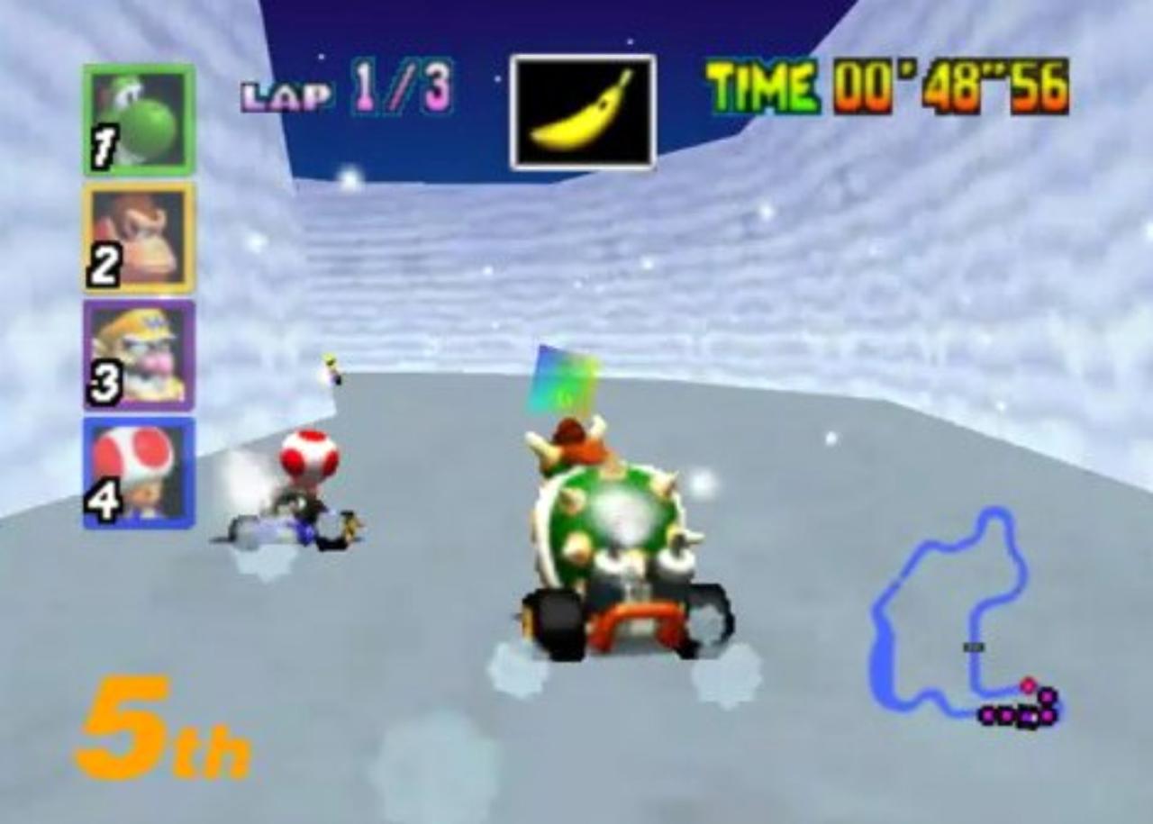 Mario Kart 64 Snow Canyon in Japan