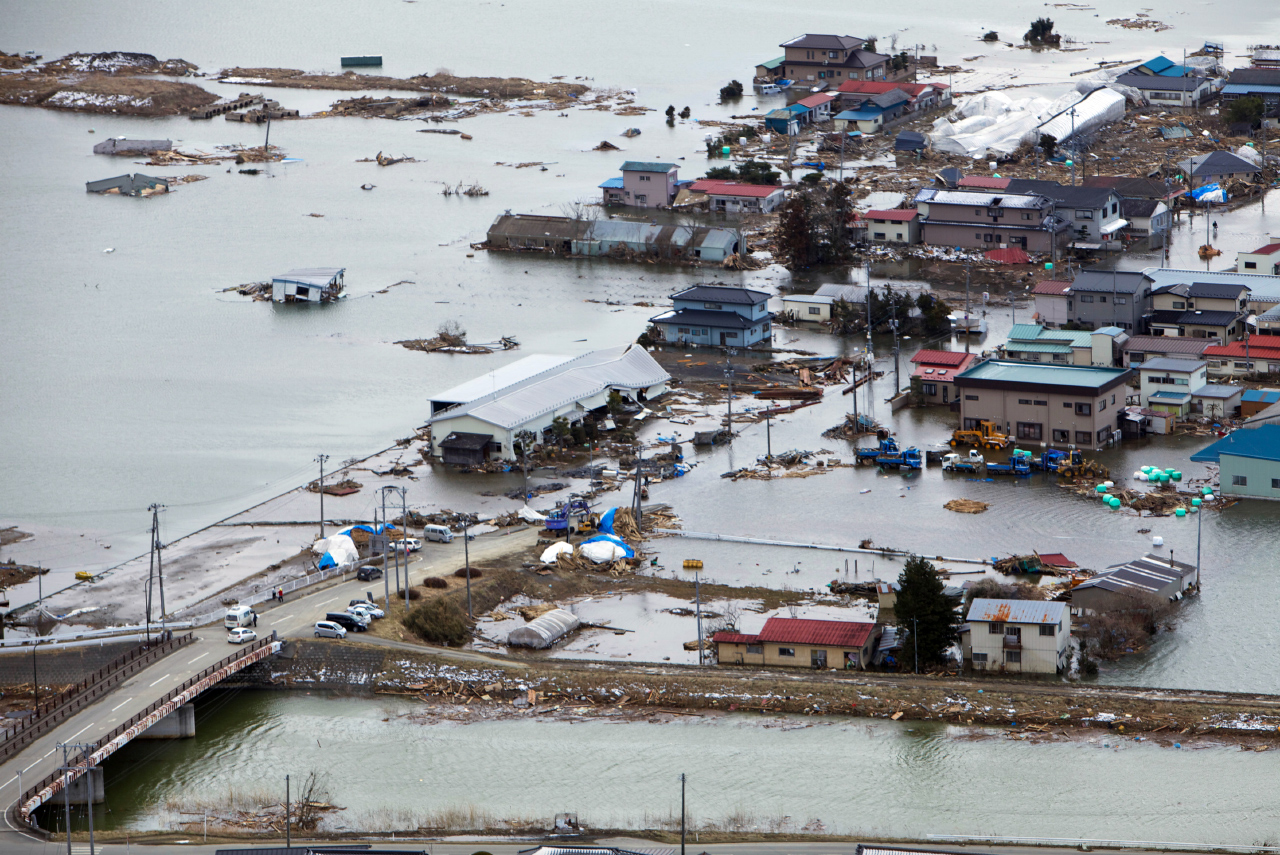 Tsunami schade Fukushima prefectuur