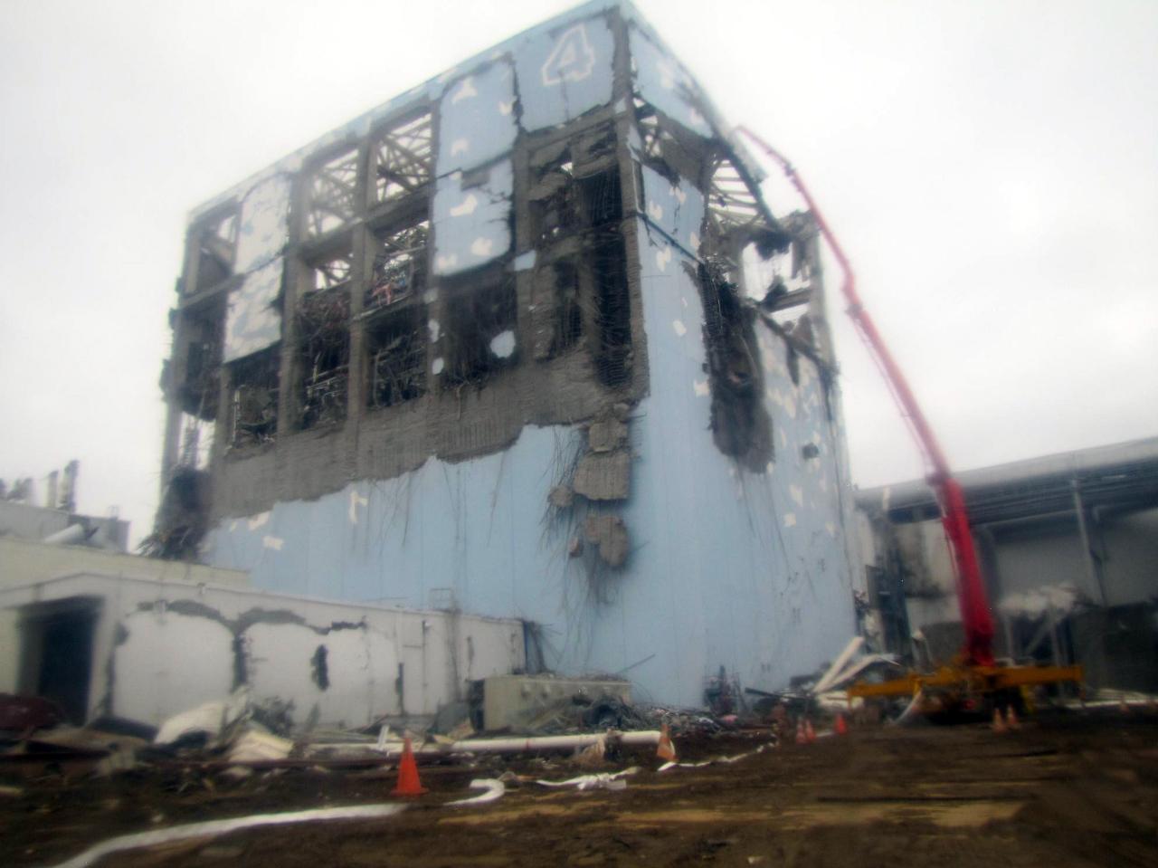 Verwoesten kernreactor Fukushima Unit 4