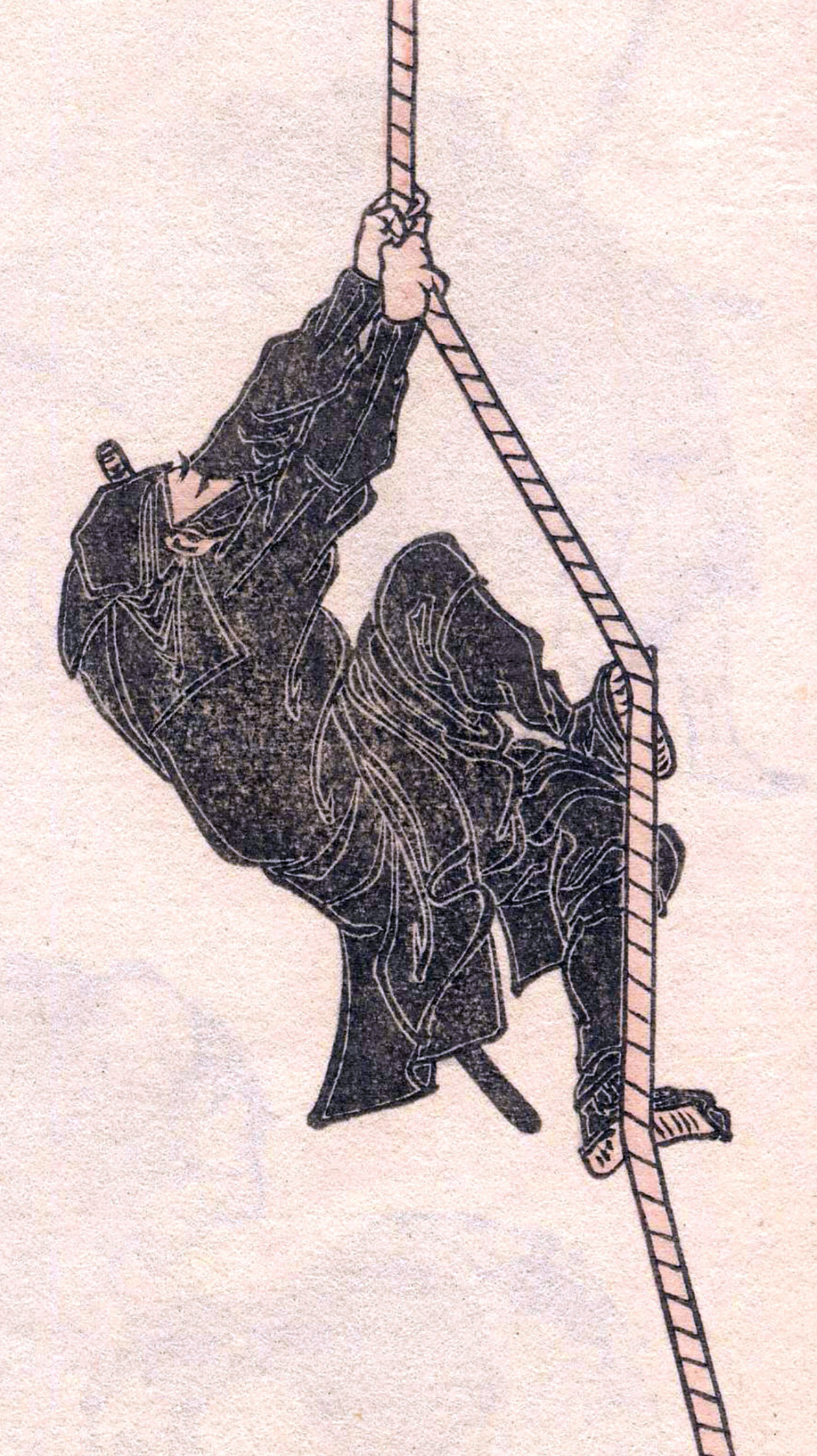 Ninja schets afbeelding van Katsushika Hokusai